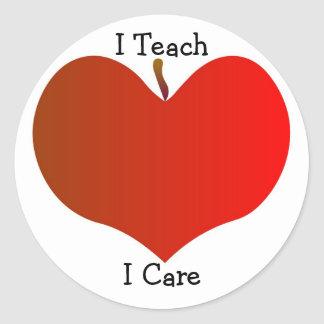 I Teach, I Care Sticker