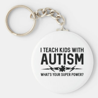 I Teach Kids With Autism Key Ring
