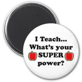 I teach refrigerator magnets