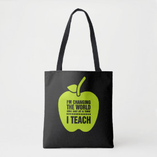 I Teach. Teaching Quote Teachers' Tote Bags
