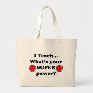 I teach jumbo tote bag