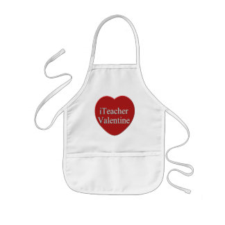 I Teacher Valentines Day T-shirts and Gifts Kids Apron