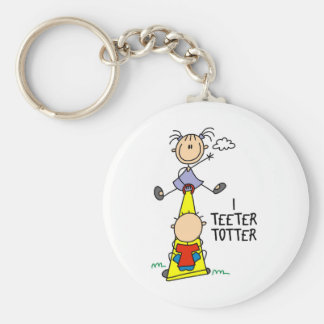 I Teeter Totter Keychain