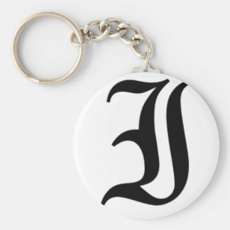 I-text Old English Keychains