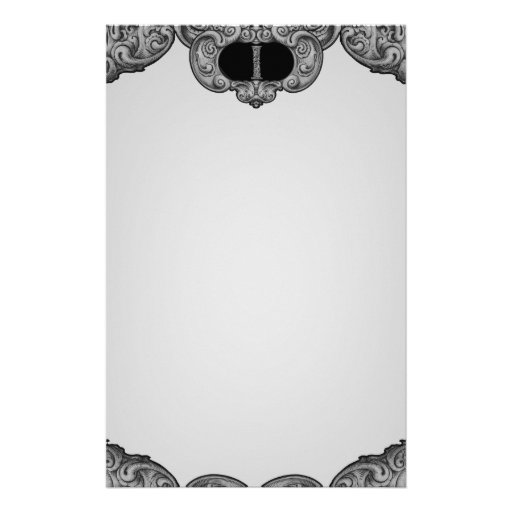 I - The Falck Alphabet (Silvery) Personalized Stationery
