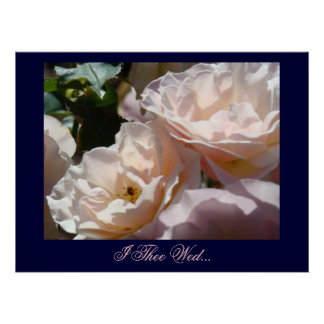 I Thee Wed art print gifts Soft Pastel Rose Flower