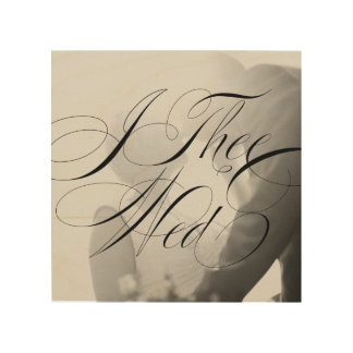 I Thee Wed III Wedding Photo Wood Canvas Wall Art