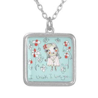 I think I love you... Silver Plated Necklace