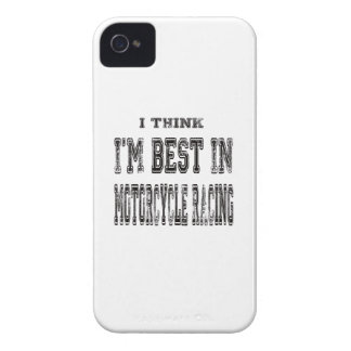 I Think I m Best In Motorcycle Racing iPhone 4 Cover
