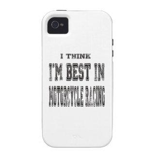 I Think I m Best In Motorcycle Racing iPhone 4/4S Cases