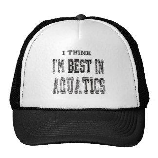 I Think I'm Best In Aquatics Mesh Hat