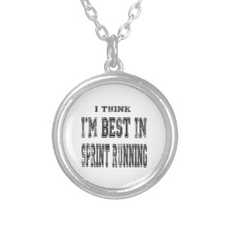 I Think I'm Best In Sprint Running Personalized Necklace