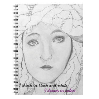 I Think in Black and White Purple Journal