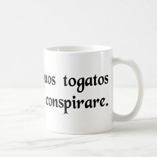 I think some people in togas are plotting....... basic white mug