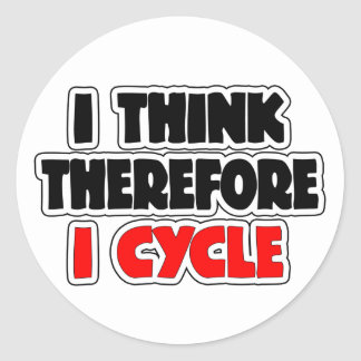 I Think Therefore I Cycle Classic Round Sticker