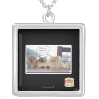 I think there's a spy among us silver plated necklace
