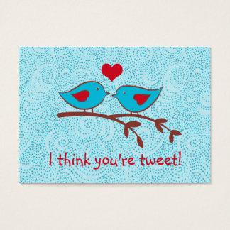 I think you're tweet valentine cards