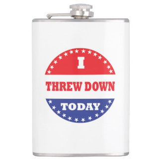 I Threw Down Today Hip Flask