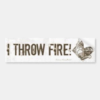 I Throw Fire! Bumpersticker Car Bumper Sticker