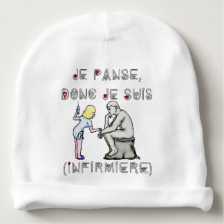 I thus bandage I am (Nurse) - Word games Baby Beanie
