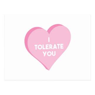I Tolerate You Postcard