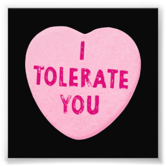 I Tolerate You Valentine's Day Heart Candy Photo Art