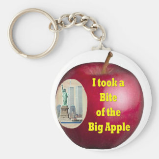 I Took a Bite of the Big Apple by Rossouw Key Ring
