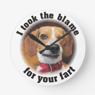 I took the blame for your fart winking dog clock
