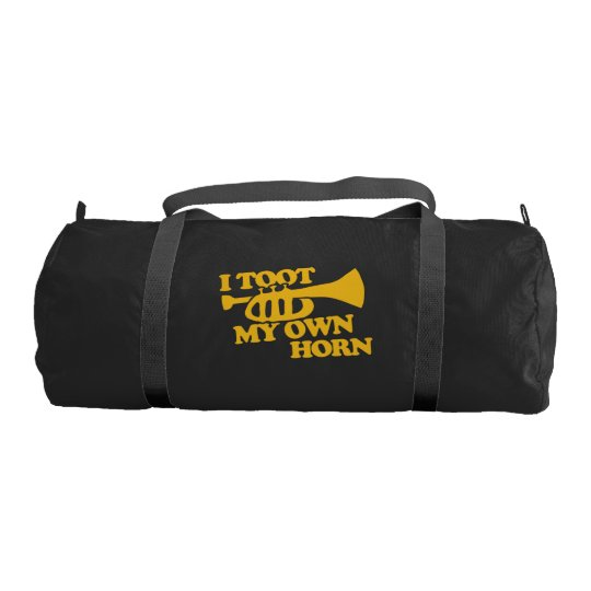 I toot my own horn trumpet player gym bag