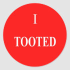 I Tooted Stickers