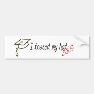 I tossed my hat Graduate Car Bumper Sticker