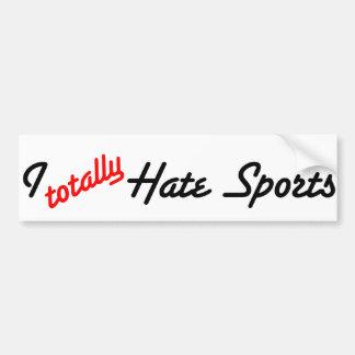 I Totally Hate Sports Bumper Sticker