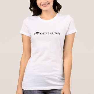 """I [tree] genealogy"" T-shirt for women or men"