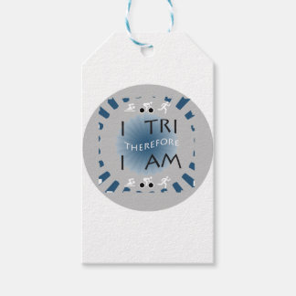 I Tri Therefore I am Triathlon Gift Tags