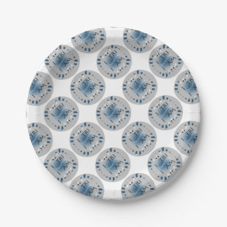 I Tri Therefore I am Triathlon Paper Plate