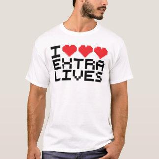 I Triple Heart Extra Lives T-Shirt