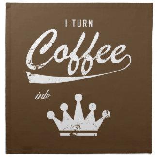 I Turn Coffee Into KOMs Napkin