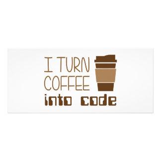 I Turn Coffee Into Programming Code Personalised Rack Card