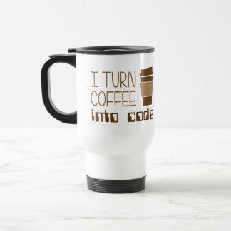 I Turn Coffee Into Programming Code Stainless Steel Travel Mug