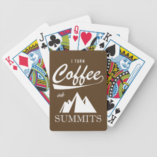 I Turn Coffee Into Summits Bicycle Playing Cards