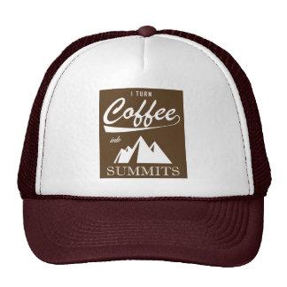 I Turn Coffee Into Summits Cap