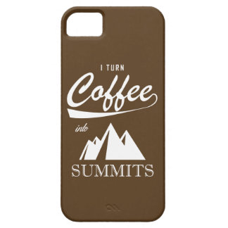 I Turn Coffee Into Summits iPhone 5 Cover