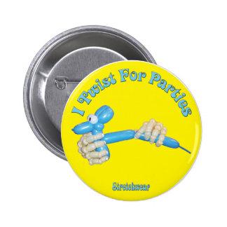 I Twist for Parties Balloon Dog 6 Cm Round Badge