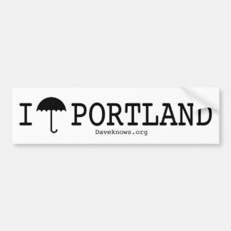 I Umbrella Portland Bumper Sticker