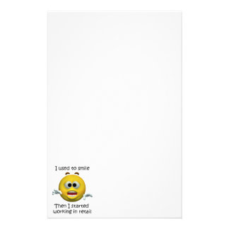 I Used To Smile Retail Employee Humor Stationery