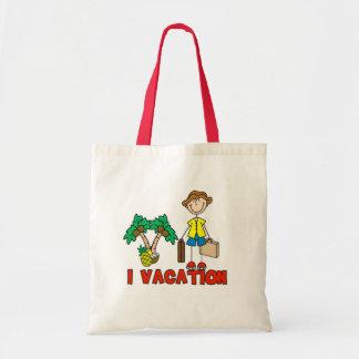 I Vacation Boy Stick Figure Bag