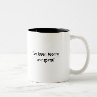 i ve been feeling uninspired - two toned coffee mugs