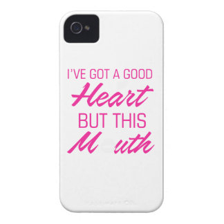 I've got a good heart but this mouth iPhone 4 cover
