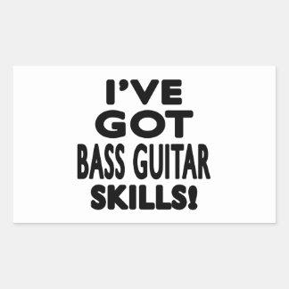 I ve Got Bass Guitar Skills Rectangular Stickers