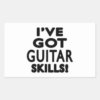 I ve Got Guitar Skills Rectangular Stickers